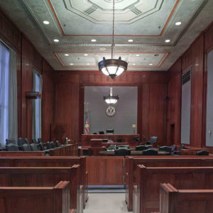 a courtroom for personal injury cases